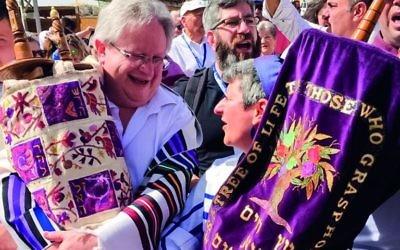Rabbi Danny Rich and Rabbi Laura Janner at the Kotel