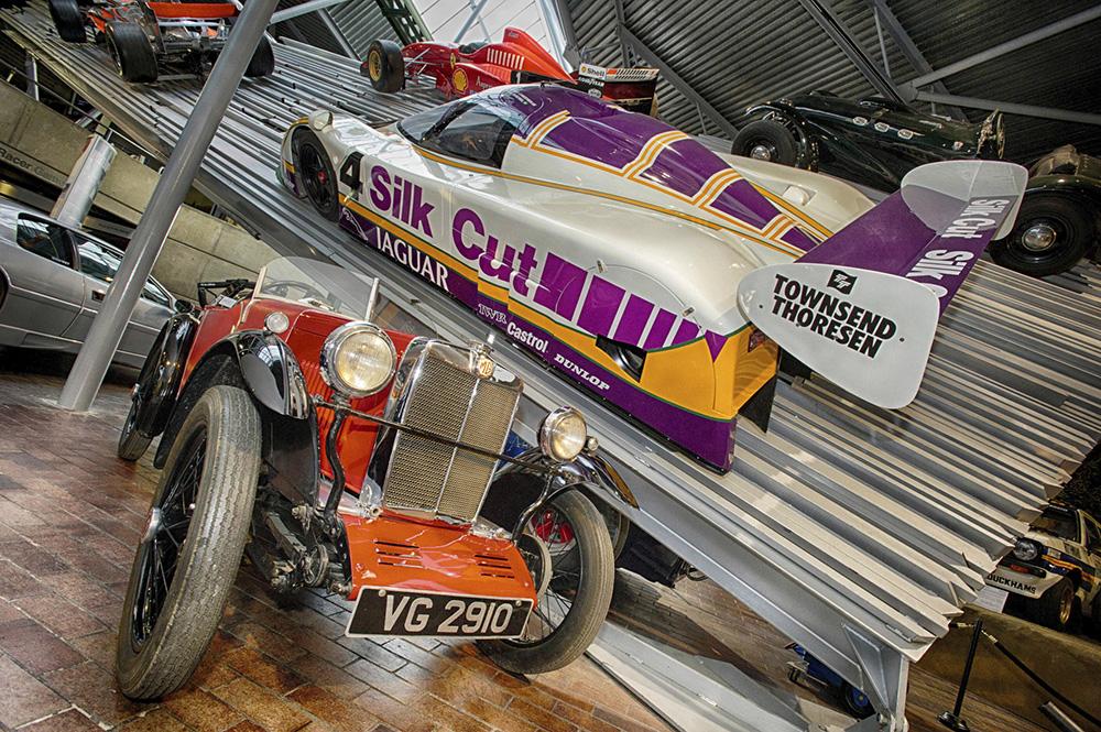 Cars at the Beaulieu Motor Museum