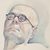 Marian Ruzamski, Portret mężczyzny w okularach, KL Auschwitz 1943-44.