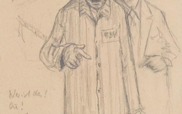 Peter Edel, Autoportret, KL Auschwitz 1944.