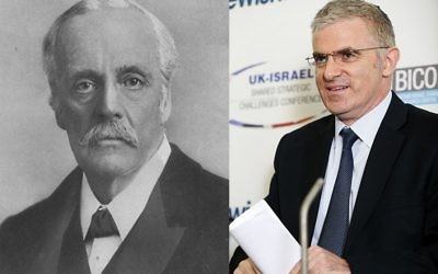 Lord Arthur Balfour and Daniel Taub
