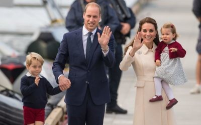 The Duke and Duchess of Cambridge, Prince George and Princess Charlotte.   (Photo credit should read: Dominic Lipinski/PA Wire)