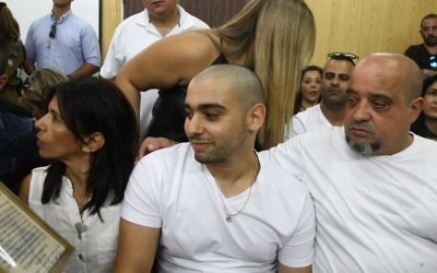 IDF Sgt. Elor Azaria, the Israeli soldier, who shot dead a disarmed and injured Palestinian attacker in the West Bank city of Hebron, sits at the courtroom as he arrives to hear the decision on his appeal at the Kirya military base in Tel Aviv   Photo by Avshalom Sasoni/POOL via JINIPIX