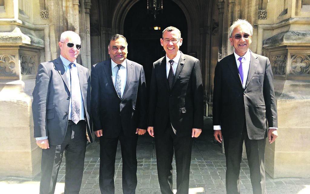 Lord Polak, Y K Sinha, Mark Regev, Lord Popat