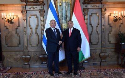 Israeli leader Benjamin Netanyahu with Hungarian Prime Minister Viktor Orban