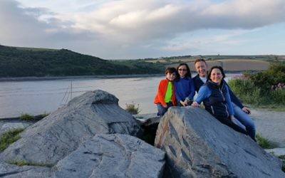 Alex with her family at the slate quarry along the Camel Trail between Wadebridge and Padstow