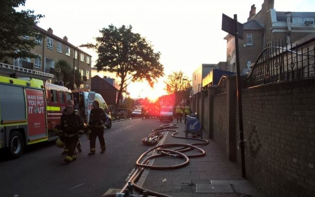 London Fire Brigade in the early hours of the morning after tackling the blaze