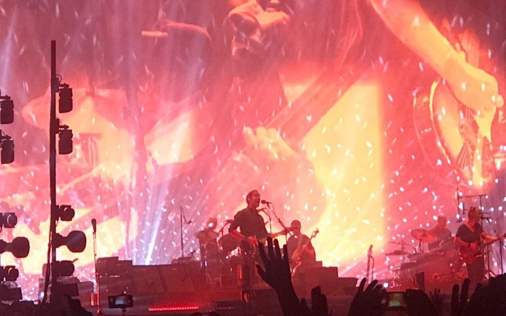 Radiohead performing in Israel