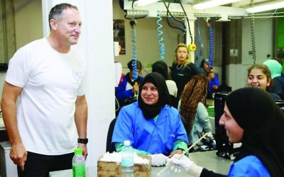 SodaStream chief executive Daniel Birnbaum in one of the company's factories. The firm