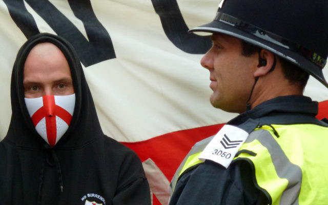 An English Defence League marcher
