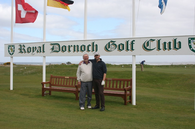 Stephen and his father enjoy golf at Glemmorangie