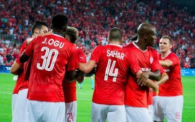 Hapoel Be'erSheva are through to the third qualifying round, as they look to reach next season's Champions League group stages. Picture: HBSFC