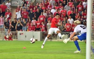 Hapoel Be'erSheva will take a 2-1 lead into next week's second leg.