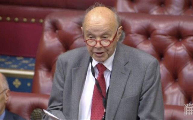 Lord Turnberg speaking in the House of Lords
