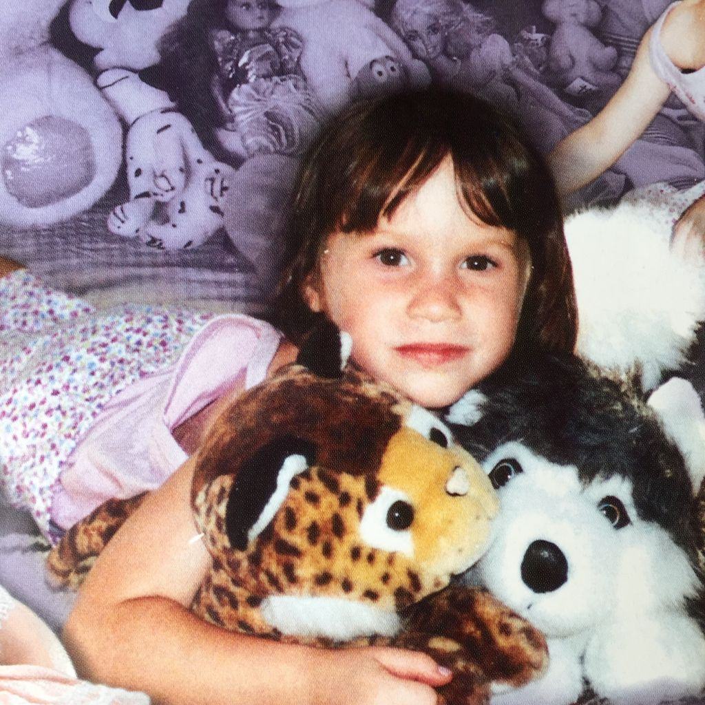 Guy's daughter Neta with dolls