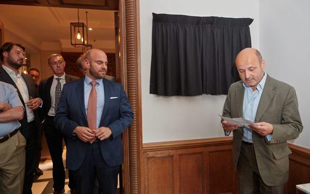 Otto Schiff Plaque Unveiling