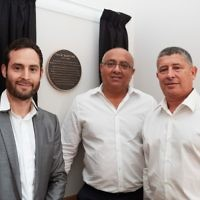 Otto Schiff Plaque Unveiling: Tal Orly and Hannan Shemesh from Cogress Ltd