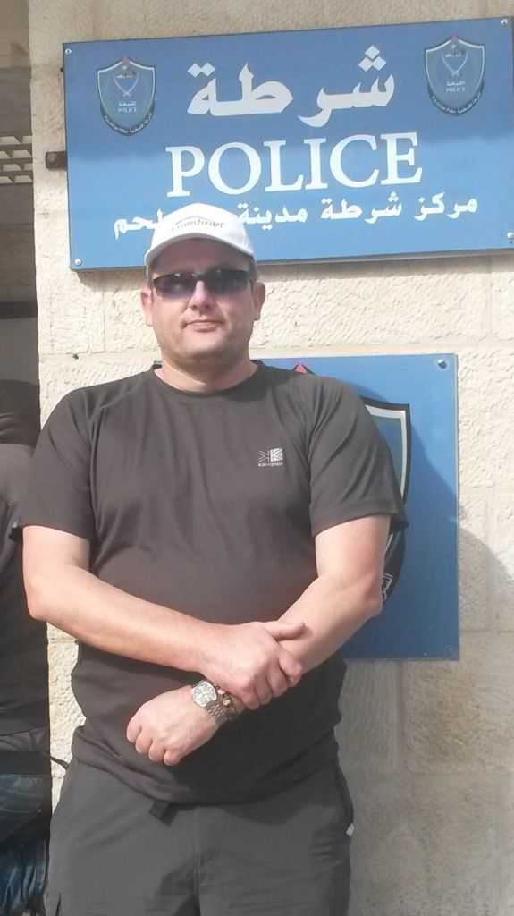 DS Richard Burgess at an Israeli police station