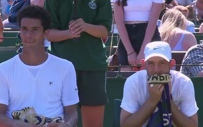 Andre Sa and Dudi Sela were beaten in the first round of the doubles competition