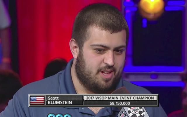 Scott Blumstein after winning the tournament.  (Source: Screenshot from ESPN video)