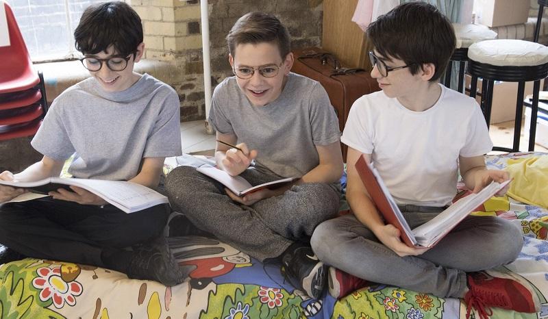 Ilan Galkoff, Benjamin Lewis and Samuel Menhinick star as Adrian. Credit: Alastair Muir