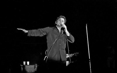 Cash performing in Bremen, West Germany, in September 1972
