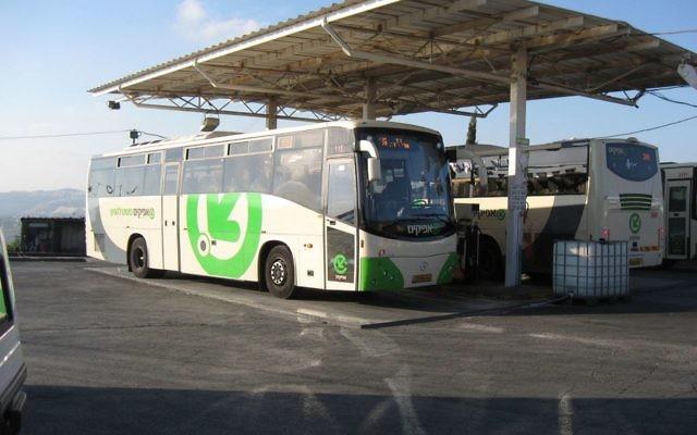 An Israeli bus