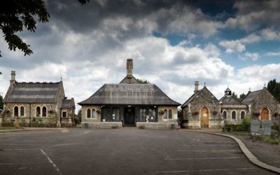 Funerary buildings at Willesden Jewish Cemetery, which is one of five places that have been listed at Grade II by the Department for Digital, Culture, Media and Sport, on the advice of Historic England, to celebrate the 70th anniversary.  Photo credit: Chris Redgrave/PA Wire