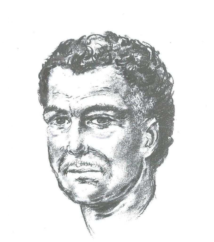 An artist's impression of the man who shot Naji Salim Hussain Al-Ali, Photo credit: Metropolitan Police/PA Wire