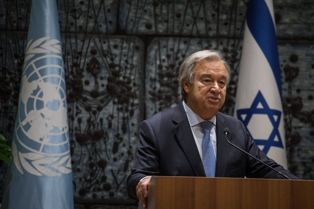Secretary general of UN, António Guterres in Jerusalem, Israel Photo by: JINIPIX