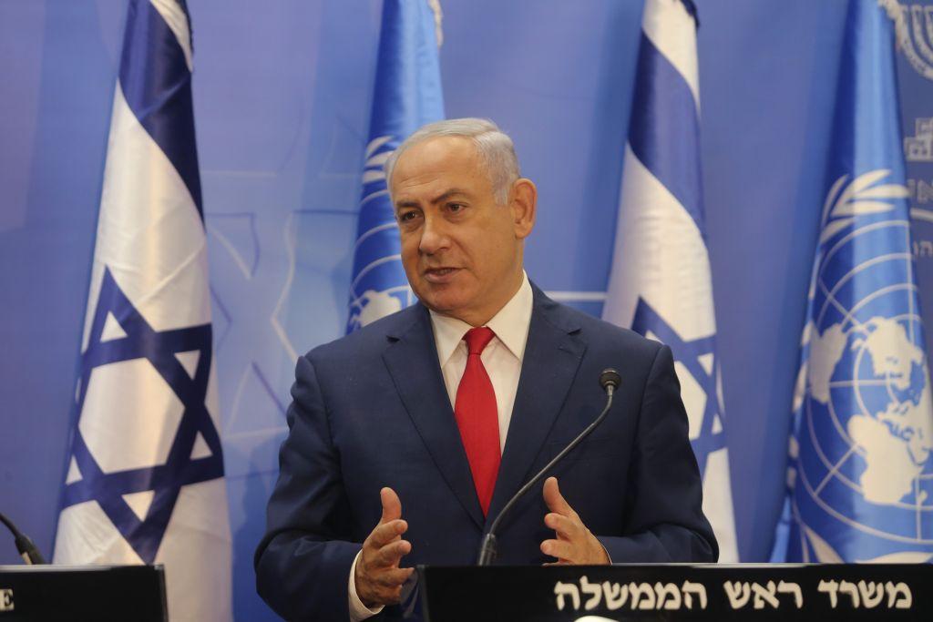 Israeli Prime Minister Benjamin Netanyahu Photo by Alex Kolomoisky/POOL via JINIPIX