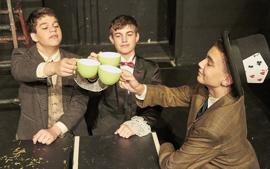 """""""Alice and the Black Hole Blues"""" production at Edinburgh Fringe.   Photo credit: Brian Dean Photography /JCHS."""
