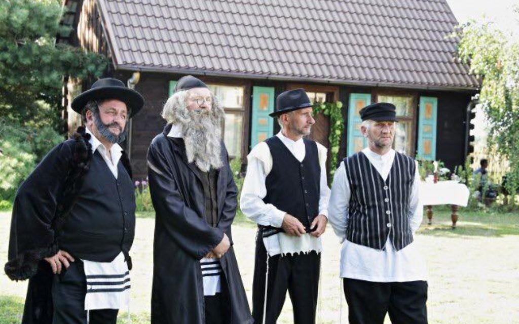 Polish village dresses up for imitation 'Jewish Wedding' in Radzanów, Poland 2017  (Photo credit: Jonny Daniels, From The Depths)