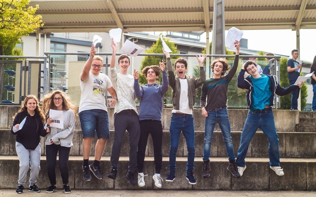 JFS students celebrate their results Picture credit: Blake Ezra Photography