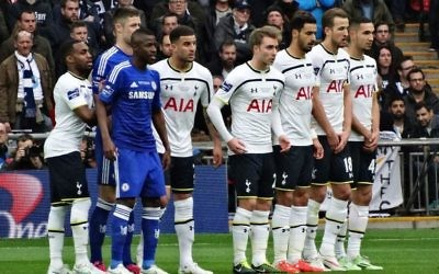 Tottenham Hotspur hosting Chelsea at Wembley Stadium in the Premier League in August 2017
