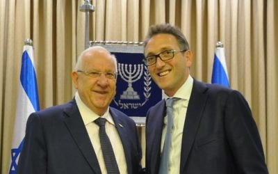 President Rivlin with Jonathan Goldstein