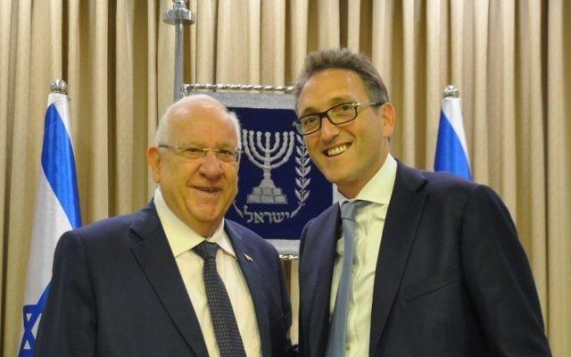 President Rivlin with Jonathan Goldstein