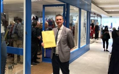 Norwood chair David Ereira at the grand opening of their interfaith shop in Selfridges