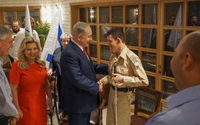 Daniel Defur, 18, meeting Israeli PM Bibi Netanyahu for the second time