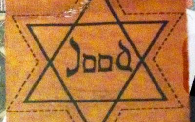 Yellow Star of David worn by Dutch Jews