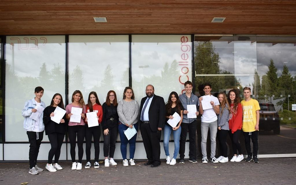 Yavneh College students celebrate their results