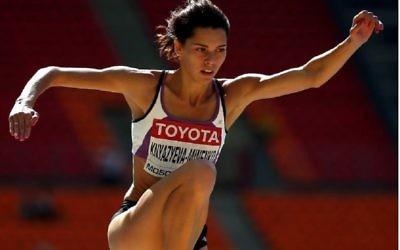 Hanna Knyazyeva-Minenko failed to win a medal in Monday night's triple jump final
