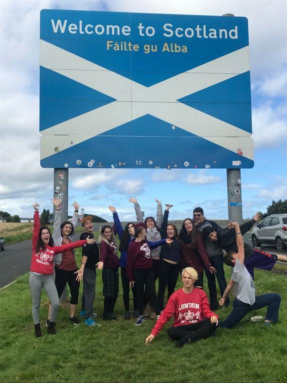 JCHS Drama Company in Scotland Credit: Courtesy JCHS