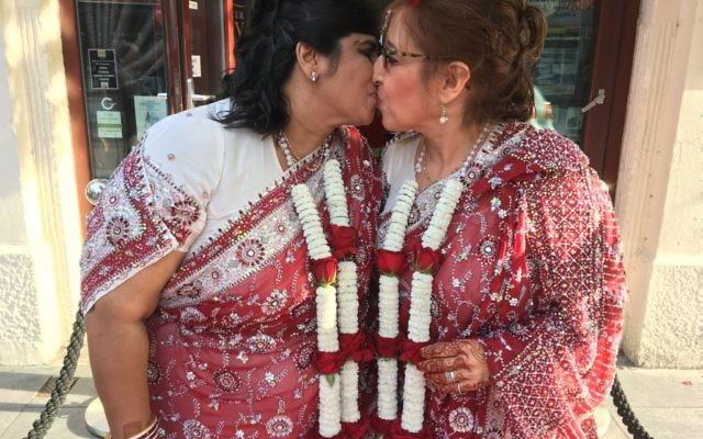 Kalavati Mistry (l) and Miriam Jefferson (r).   Photo credit: Pukaar News