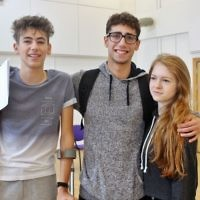 JFS students celebrate their results   Picture credit: TashPhotography