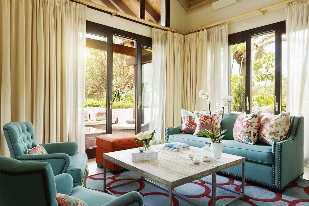 The Marbella Club Hotel's airy salon