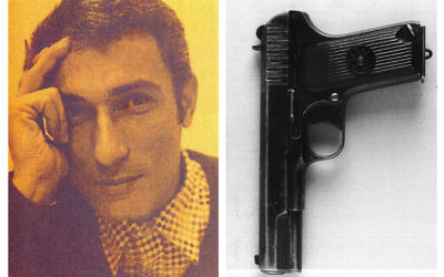 Left: Naji Salim Hussain Al-Ali, right: The gun used to kill him.   Photo credit: Metropolitan Police/PA Wire
