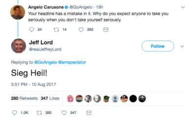 Jeffrey Lord's controversial tweet
