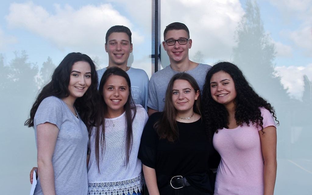Yavneh students celebrating their results   Photo credit: TashPhotography
