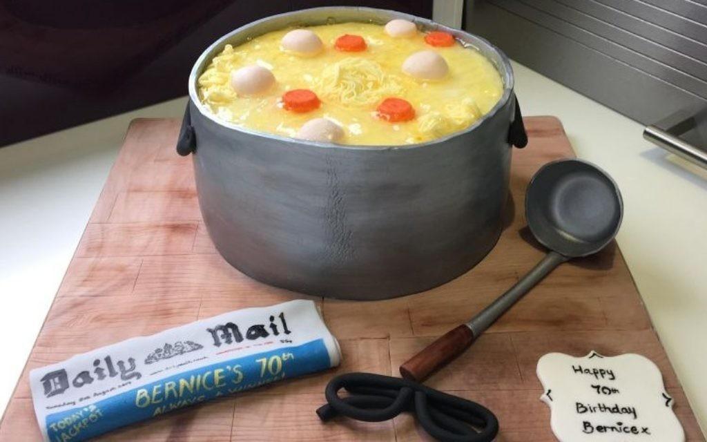 Chicken soup cake